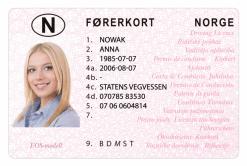Kolekcjonerskie prawo jazdy z Norwegii przeniesie Cię w krainę polarnych zorzy i fiordów.