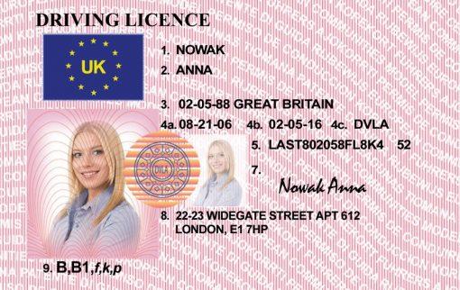Kolekcjonerskie prawo jazdy z Wielkiej Brytanii jest świetnym pomysłem na prezent dla osób, które uwielbiają brzydką pogodę.