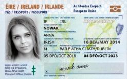 Kolekcjonerski dowód osobisty z Irlandii to po irlandzkiej whisky drugi bardzo chętnie kupowany upominek na wieczór kawalerski lub osiemnaste urodziny.